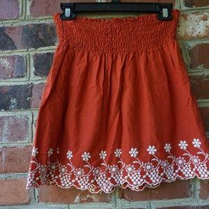 Speechless Burnt Orange Skirt